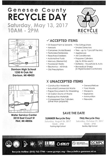 2017 Genesee County Recycle Day
