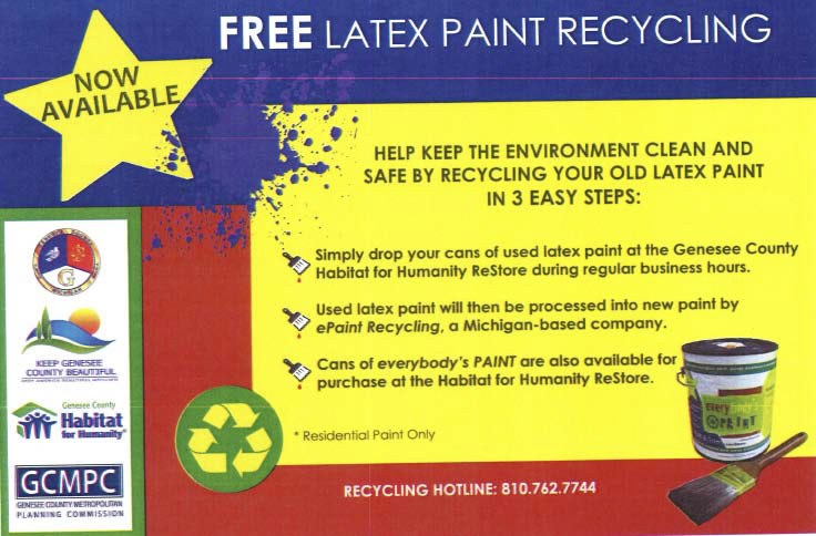 FREE Latex Paint Recycling